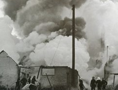 1945 Fire destroyed 75percent of factory at Denby Dale